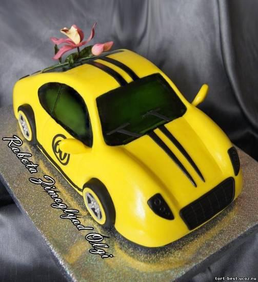 торт своими руками машину